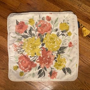 Cynthia Rowley Embroidered Floral Pillow Cvr Boho